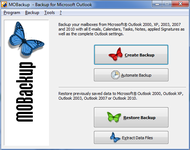 MOBackup - Outlook Backup Software screenshot